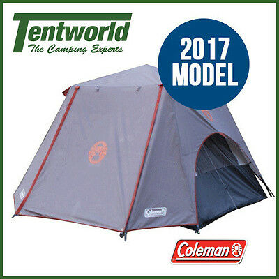 Coleman 3 Person Instant Up Tent - Silver - 3/4 Fly