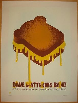 Dave Matthews Band DMB Alpine Valley 2006 grilled cheese Poster Methane Studios