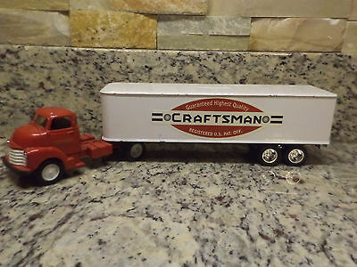 ERTL 1950 Chevy Cab Craftsman Tools bank semi trailer DIECAST red white Sears