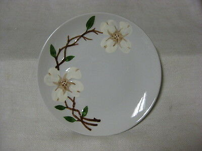 3 Orchard / Orchard ware Dogwood Bread Plates Gray with White Dogwoods USA