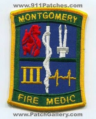 Montgomery Fire Department Medic Iii Patch Alabama Al Dept. Paramedic Ems 3 Old