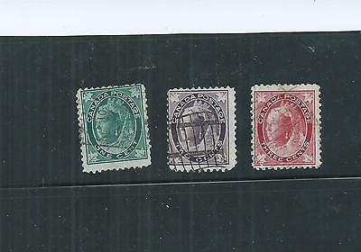 Canada. 1897-1898. Queen. Selection Of 3.  Fine Used.  As Per Scan