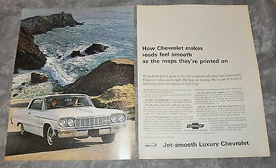 "1964 Chevrolet Impala SS Vintage LIFE Magazine Illustrated Ad 10.5"" x 13.5"""