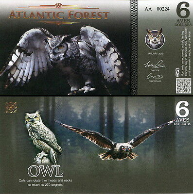 ATLANTIC FOREST - 6 aves dollars 2015 FDS UNC
