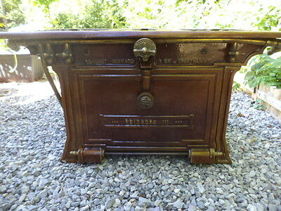 FRENCH ENAMEL CAST IRON GAS VINTAGE OVEN GRILL + BURNERS from Paris