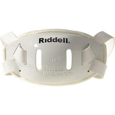 Riddell Hard Cup Chin Strap, White, 4 Point, Mid/High Hookup