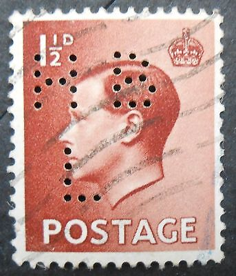 Classic Great Britain 1936 1p KGVIII definitive, used with H B L perfin, SC 232