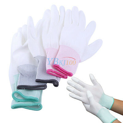 S/M/L Anti Static Antiskid PU Finger Coated Gloves ESD PC Computer Working Labor