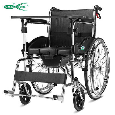 Cofoe High Quality multifunction folding wheelchair  Full Arms  and Removable