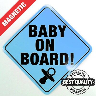 Baby On Board - Sign BLUE - Magnetic Car
