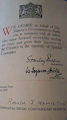Signature/autograph  of Stanley Baldwin prime minister