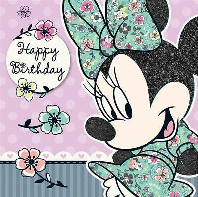 Minnie Mouse Stampa Minnie Verde Abito Quadrato Biglietto Happy Birthday