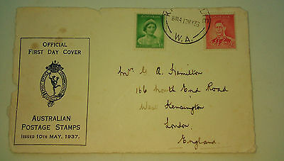 AUSTRALIA - FIRST DAY COVER envelope front  - postmark 12th May 1936