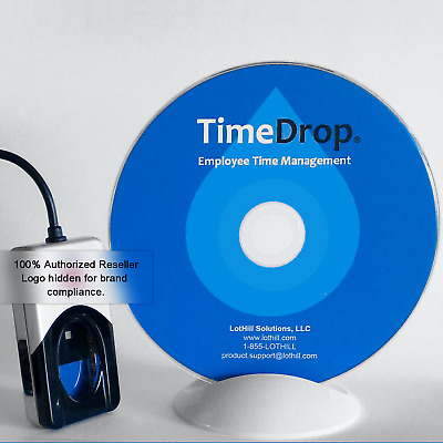 Time Clock Software, USB Biometric Fingerprint Scanner Reader Kit - TimeDrop