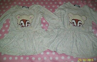 Twin girls clothes bundle tunic tops 3-4 years