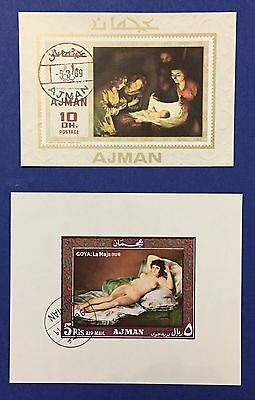 Ajman Two Sheets 1969 Stamps Used Canceled Splendid