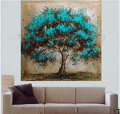 HUGE MODERN Hand-painted ABSTRACT Oil Painting Tree Wall Art On Canvas no framed