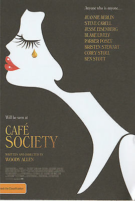 Promotional Movie Flyer - CAFE SOCIETY (2016) **Woody Allen, Blake Lively**