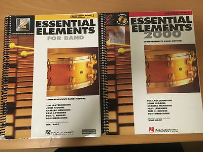 Essential Elements For Band 2000 - Drums Percussion Book 1 & 2