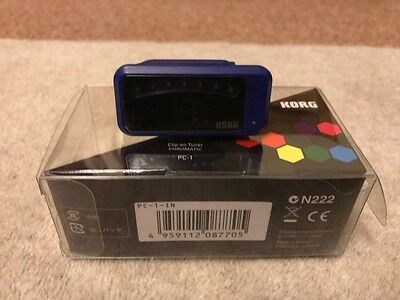 Korg Pitchclip Clip-On Chromatic Guitar Tuner - Blue