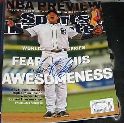 Miguel Cabrera Detroit Tigers Signed Autographed Ws Sports Illustrated Si Jsa