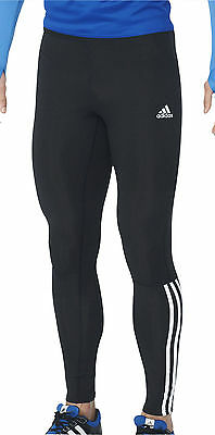 adidas Response Mens Long Running Tights - Black