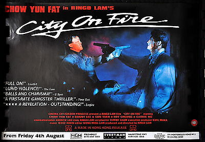CITY OF FIRE (Ringo Lam 1987) Original UK quad poster.