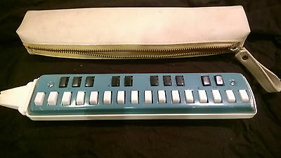 A Vintage melodica complete with case Czechoslovakia rare