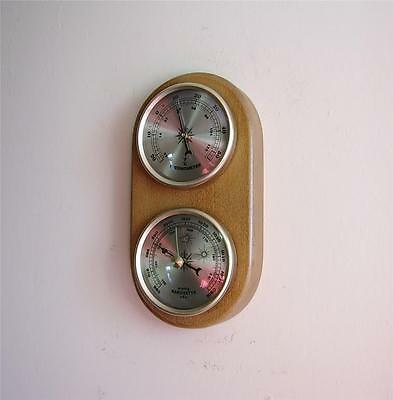 Barometer Thermometer Quality Instrument Gold Coloured Dials New