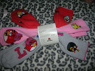 3 Pairs Socks Angry Birds for Girl EU 35/39 H&M
