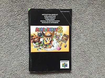 Nintendo N64 Mario Party 2 manual only!