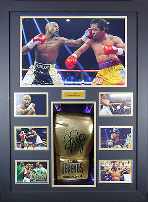 Floyd Mayweather Signed Boxing Glove Framed 3D Display