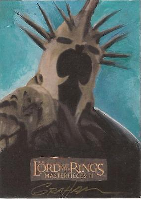 """Lord of the Rings Masterpieces II - Kevin Graham """"Witch-king"""" Sketch Card"""