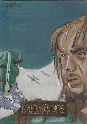 """Lord of the Rings Masterpieces - Kyle Babbitt """"Boromir & the Ring"""" Sketch Card"""