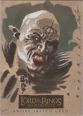"""Lord of the Rings Masterpieces - James Hodgkins""""Orc"""" RARE Level A Sketch Card"""