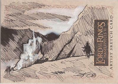 """Lord of the Rings Masterpieces II - Jim Kyle """"Minas Tirith"""" Sketch Card"""