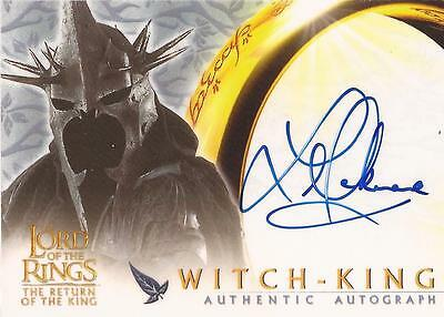 """Lord of the Rings ROTK - Lawrence Makoare """"Witch-King"""" Auto / Autograph Card"""