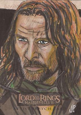 """Lord of the Rings Masterpieces II - Jason Potratz """"Aragorn"""" Sketch Card"""