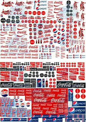 Coca-Cola vs Pepsi - Waterslide Decals for Hot Wheels & 1:64 Model Cars