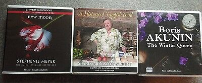 3x Audio Books (see information for titles    cds  complete & unabridged
