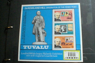 Tuvalu Stamps-Sir Rowland Hill Sheetlet Rare