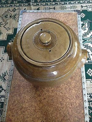 Earthenware pottery crock pot