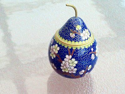 Collectable Vintage Hand Crafted Cloisonne Trinket Box C 1960's