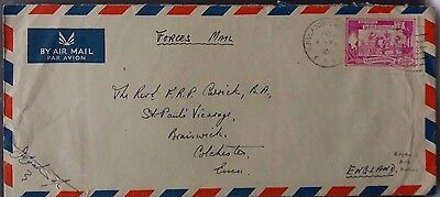 Burma 1950 Royal Air Force British Services Mission Forces Mail Cover