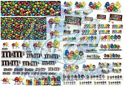 M&Ms Racing Pack - Waterslide Decals for Hot Wheels & all scale Model Cars