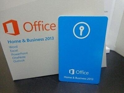 Microsoft Office Home and Business 2013 PKC Card Only & 1 License For Windows
