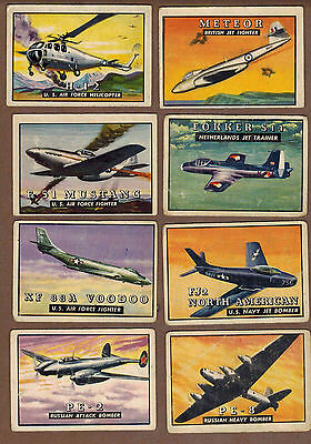 WINGS, AVIATION: Collection of 24 Scarce TOPPS Gum Cards (1952)