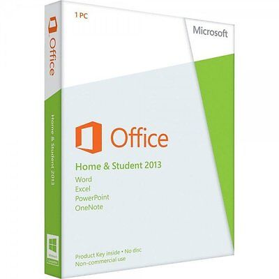 Genuine Microsoft Office Home and Student 2013 License 1 PC Media & Card-less