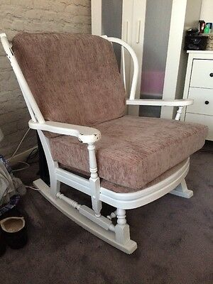 Ercol Rocking Chair With Cushions - Shabby Chic - Vintage Chair
