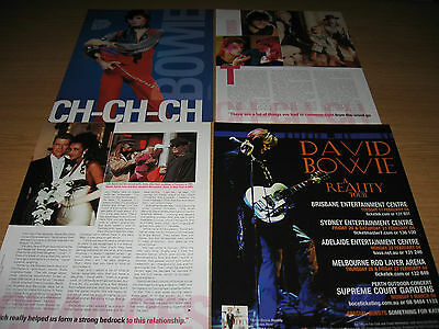 DAVID BOWIE -  Magazine and Newspaper Clippings - ZIGGY STARDUST